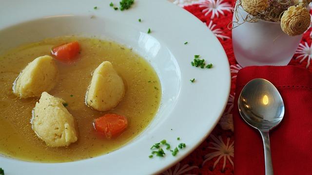 Soup, Beef Soup, Beef, Dumplings, Semolina
