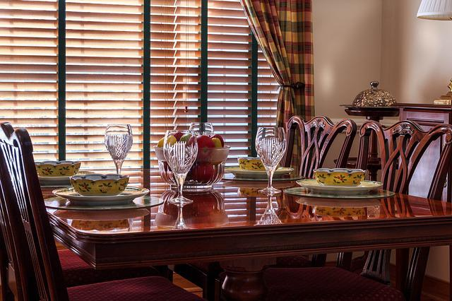 Dinner Table, Table, Chairs, Soup Bowls, China, Plates