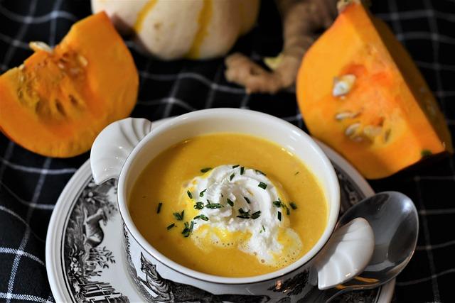 Pumpkin Soup, Soup, Hokkaido Soup Ginger, Carrot
