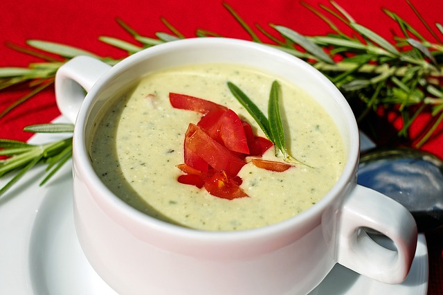 Soup, Cold, Zucchini Yogurt, Eat