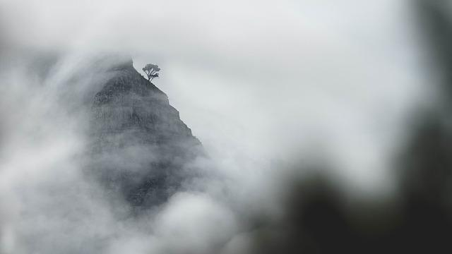 Africa, South Africa, Cape Town, Peak, Lions Head, Mist