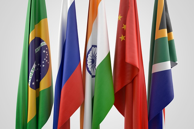 Flag, China, Brazil, Russia, South Africa, South