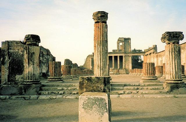 Pompei Ruins, South Italy, Architecture, Volcano Area