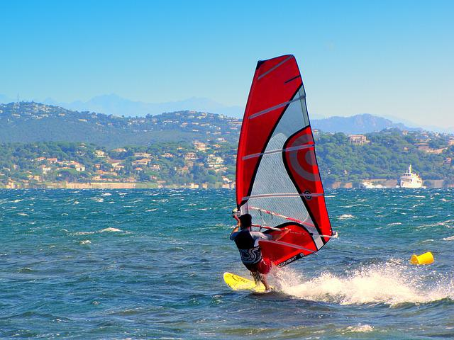 Windsurf, Windsurfer, Aquatics, South Of France