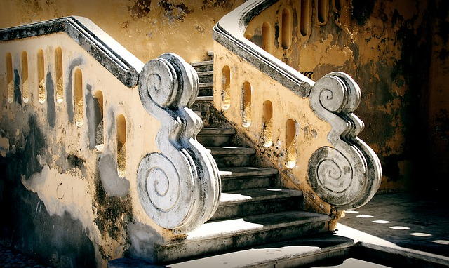 Stairs, Baroque, South Of France, Provence