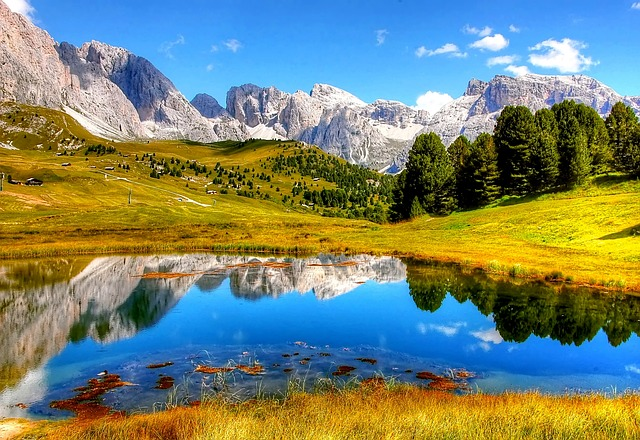 Dolomites, Mountains, Italy, South Tyrol, Alm