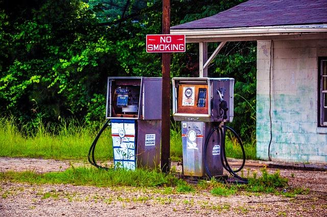 Abandoned, Petrol Stations, Southern States, Usa