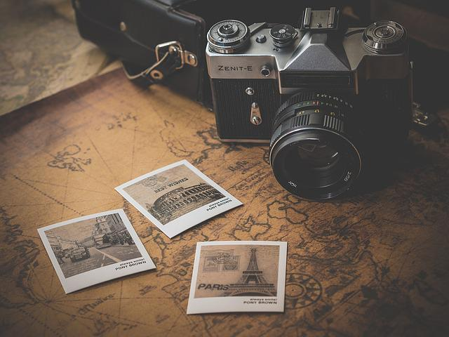 Camera, Photographs, Souvenir, Photography, Photos, Map