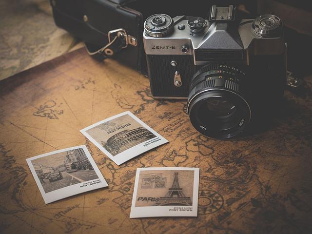 Camera, Photographs, Souvenir, Photography, Photos, Map