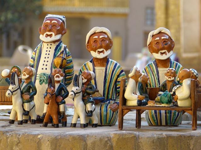 Clay Figure, Uzbekistan, Ceramic, Pottery, Souvenir