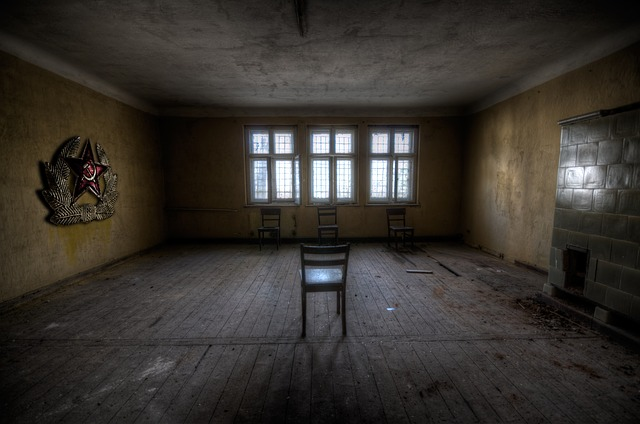 Indoors, Room, Soviet, Abandoned Window, Chairs