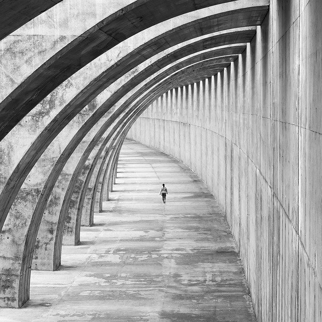 Architecture, Human, City, Road, Art, Space, Path