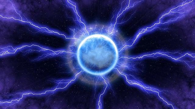 Lightning, Energy, Blue, Light, Space, Dark, Electric