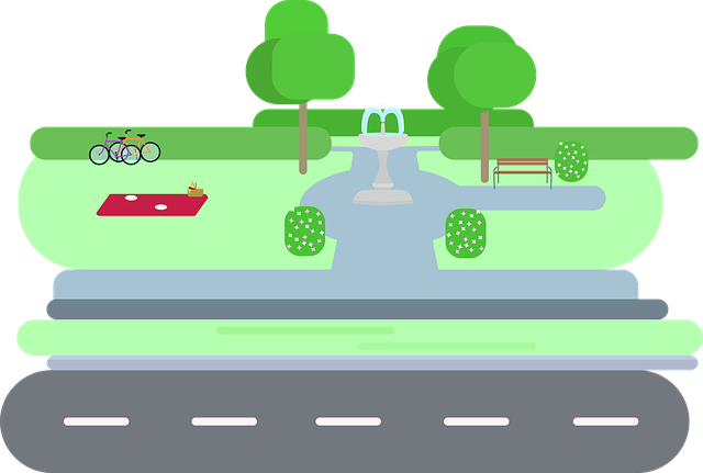 Park, Out, City, Road, Green, Green Space, Bike, Space