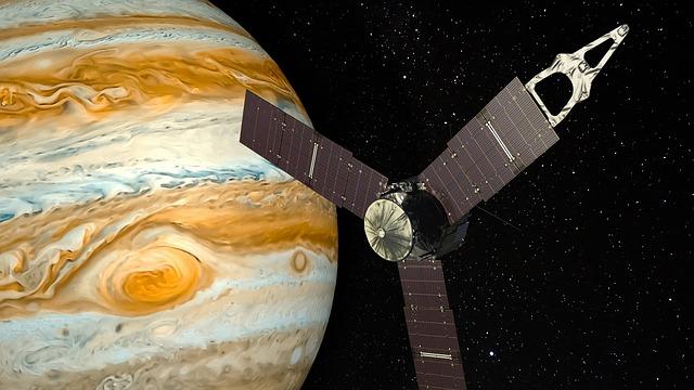 Jupiter, Planet, Space Probe, Spacecraft, Juno