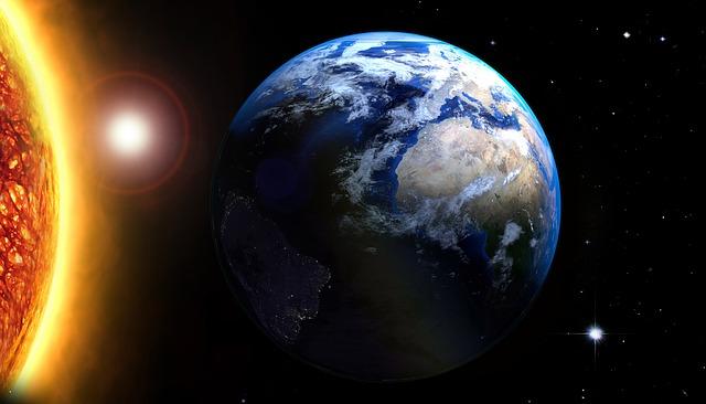 Sun, Star, Earth, Cosmos, Rays, Balls, Space, Reflexes