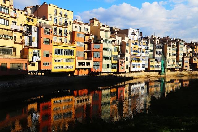 Spain, Catalonia, Girona, Travel, Architecture