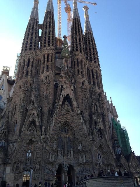Barcelona, Church, Cathedral, Spain, Sagrada Familia