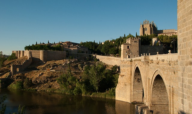 Spain, Toledo, Bridge, Ramparts