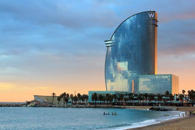 Barcelona, Hotel W Barcelona, Catalonia, Spain