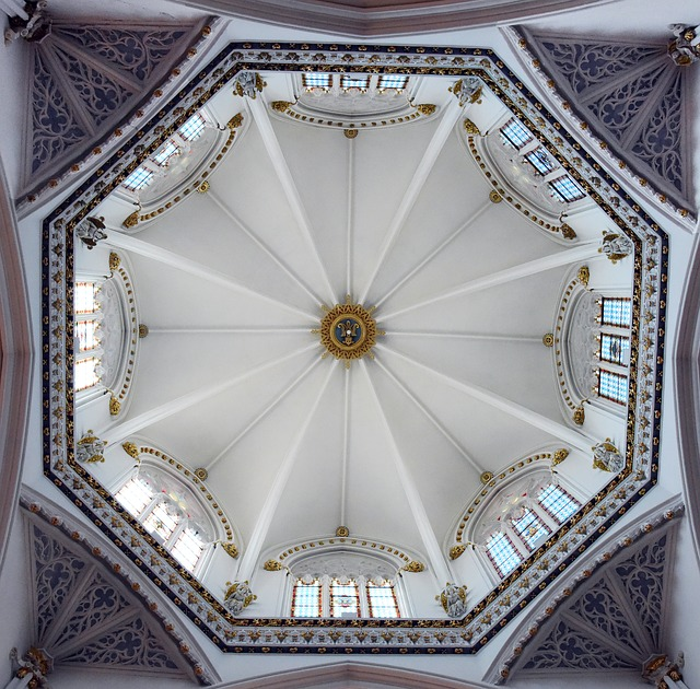 Cathedral, Benissa, Spain, Ceiling, Dome, Religion