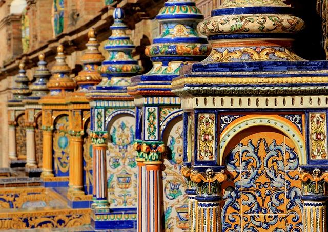 Spain, Ceramic, Decoration, Design, Tile, Architecture