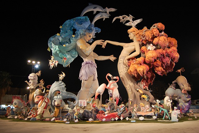 Valencia, Spain, Falla Nou Campanar, Outside, Event
