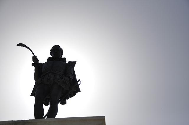 Statue, Cervantes, Alcala, Henares, Spain