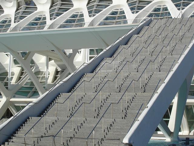 Oceanografic, Valencia, Spain, Architecture, Ladder