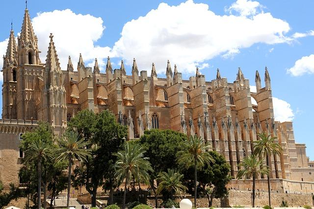 Spain, Palma, Cathedral, Mallorca, Architecture