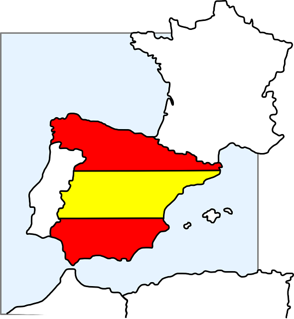 Small Map Of Spain.Free Photo Country Borders Flag Europe Eu Spain Map Contour Max Pixel
