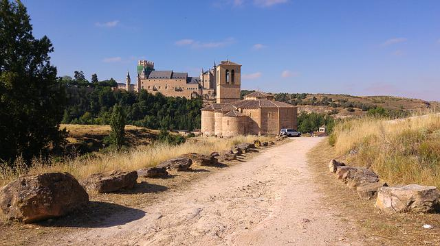 Spain, Segovia, Medieval Castle, Ramparts