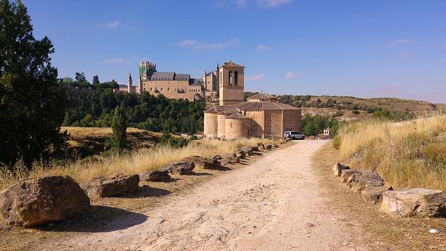 Spain, Segovia, Medieval Castle, Ramparts