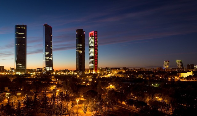 Madrid, Spain, Torres, Skyline, Leaderboard, Skyscraper