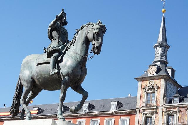 Madrid, Spain, Main Square, Tourism, Torres, Buildings