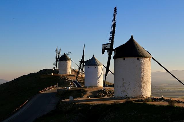 Windmill, Don Quixote, Spain