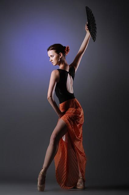 Woman, Dance, Spanish, Red Skirt, Ballet Dancer, Beauty