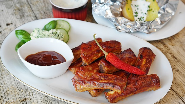 Spare Ribs, Grill, Bbq, Sauce, Barbecue, Peeling Ribs