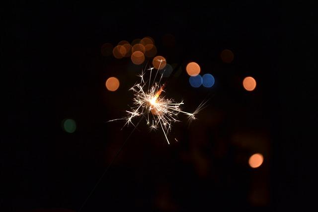 Sparkler, Spark, Holiday