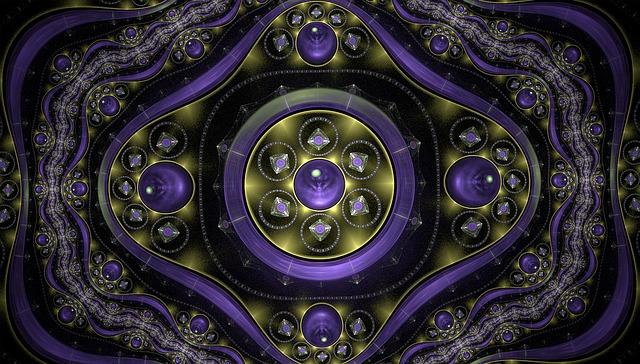 Fractal, Sparkling, Purple, Abstract, Fractal Art