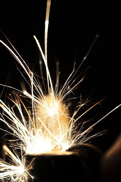 Sparks, Fireworks, Welding, Industrial, Heat, Metal