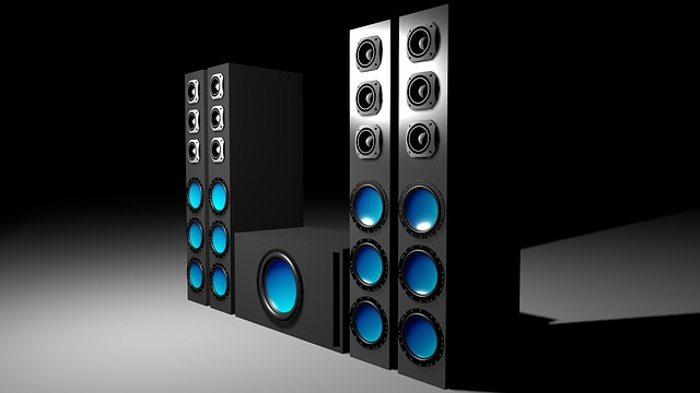 Electronics, Speakers, Sound System, 3d