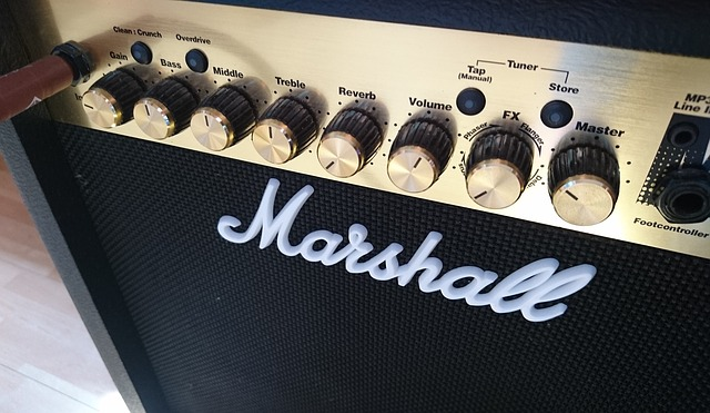 Marshall, Guitar, Amplifier, Music, Musician, Speakers