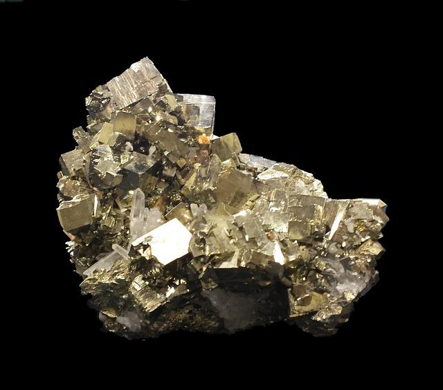 Pyrite, Fool's Gold, Specimen, Mineralogy, Golden
