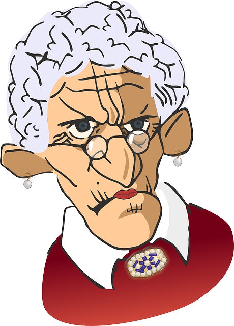 Spinster, Grandmother, Grandma, Stern, Spectacles
