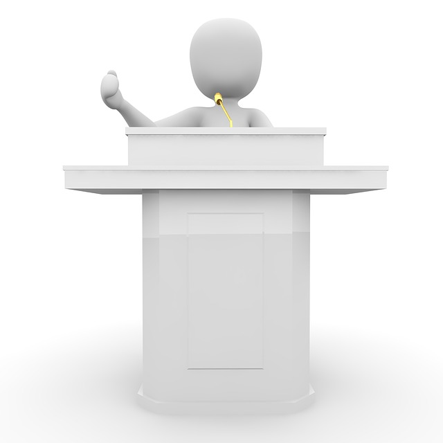 Speech, Stage, Lecture, Microphone, Fair, Occurs