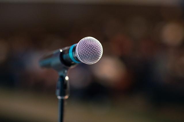 Public Speaking, Mic, Microphone, Stage, Speech