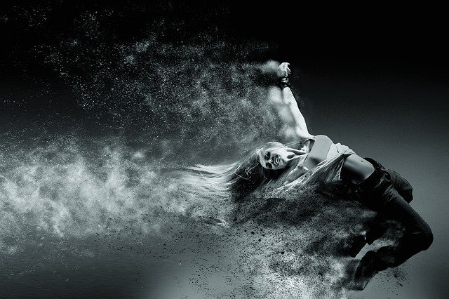 Person, Movement, Speed, Black And White, Sand