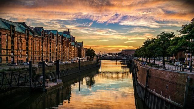 Hamburg, Speicherstadt, Channel, Houses, Germany