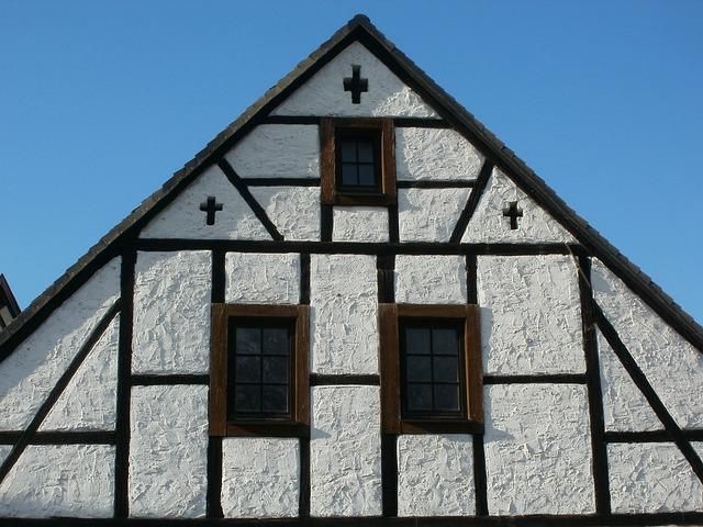 House, Gable, Pediment, Speyer, Timber Framing